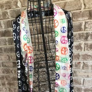 Accessories - Peace Scarves Set of 2 NWT Hippie Valentine